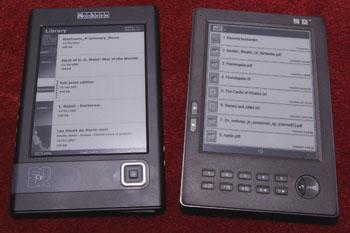 Cybook Gen3 (links) en Hanlin V3 (klik voor vergroting)