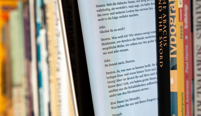 E-book between books