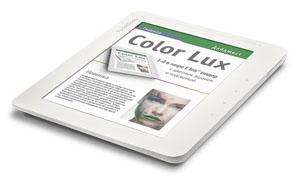 het is de eerste grotere ereaderfabrikant die zich aan een ereader met kleurenscherm en verlichting waagt voor het scherm maakt pocketbook gebruik van