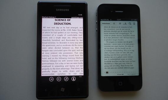 vergelijking Omnia 7 en iPhone