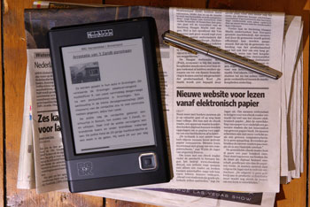 De krant op je ebook reader middels Mobipocket eNews (klik voor vergroting)
