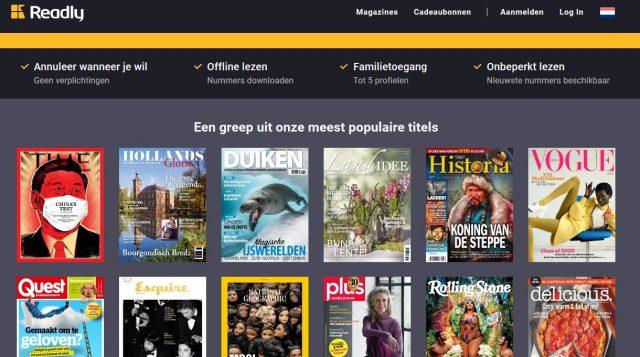 readly digitaal lezen tijdschriften